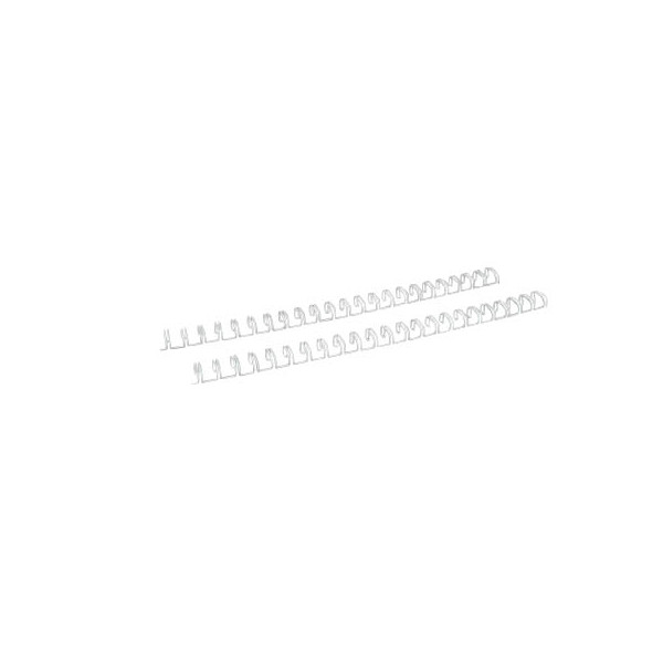 Renz Drahtbinderücken Ring Wire 320800023 weiß 2:1 23 Ringe auf A4 60 Blatt 8mm 100 Stück