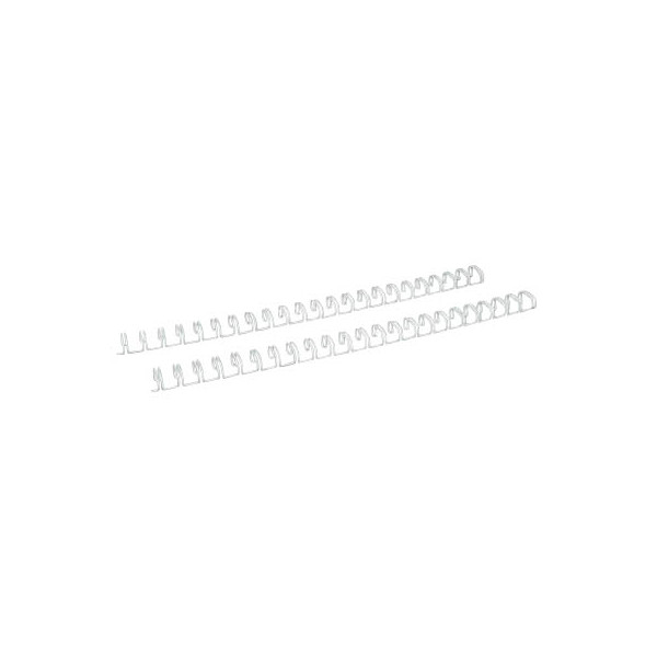 Renz Drahtbinderücken Ring Wire 320950023 weiß 2:1 23 Ringe auf A4 75 Blatt 9,5mm 100 Stück