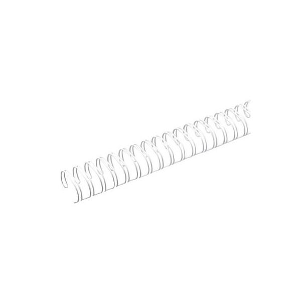 Renz Drahtbinderücken Ring Wire 321430023 weiß 2:1 23 Ringe auf A4 120 Blatt 14,3mm 50 Stück
