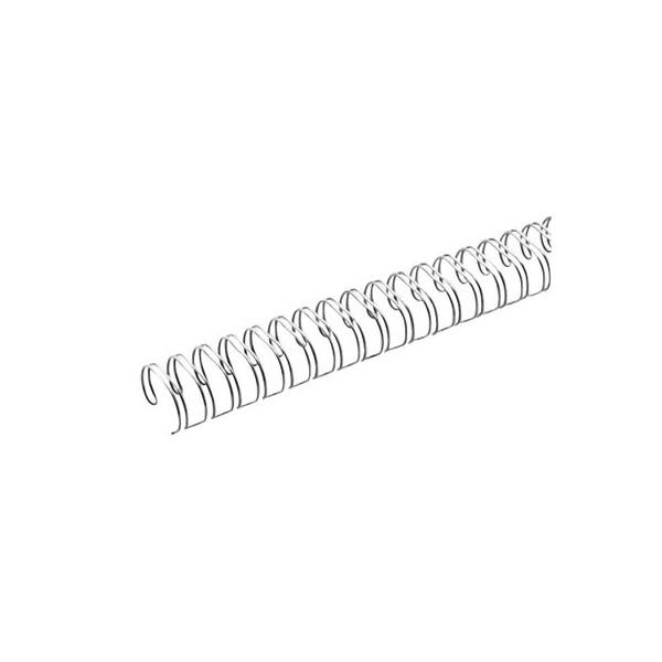 Renz Drahtbinderücken Ring Wire 321430623 silber 2:1 23 Ringe auf A4 120 Blatt 14,3mm 50 Stück