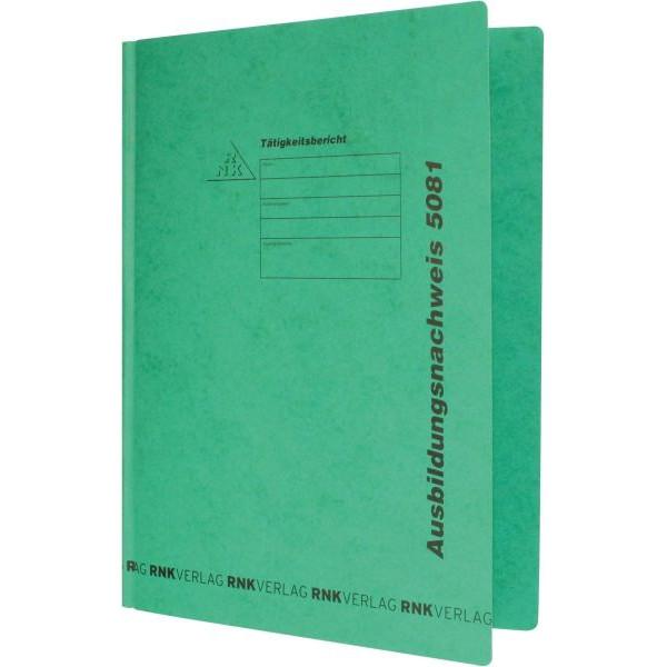 RNK Schnellhefter 5081 für Berichtsblocks A4 grün 230 x 310 mm