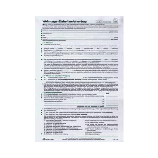 RNK Mietvertrag für Wohnungen Standard A4