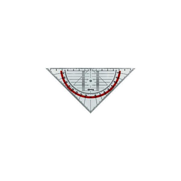 Rotring Geo-Dreieck CENTRO 16cm glasklar