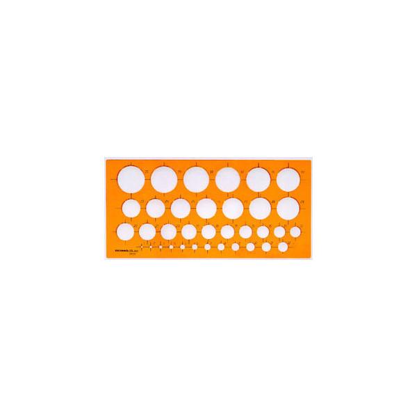Rumold Kreisschablone Ø 1-35mm 27 x 13cm orange