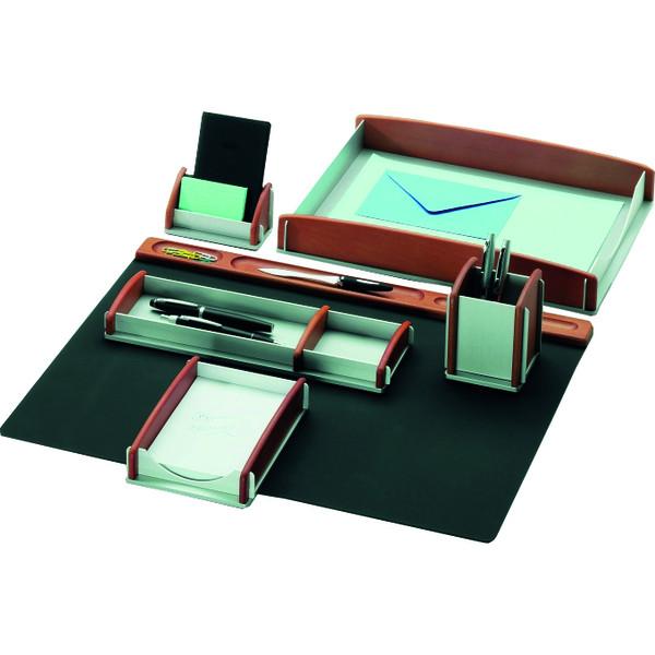 Rumold Schreibtischset 968910 buche/silber 6-teilig Echtholz Buche