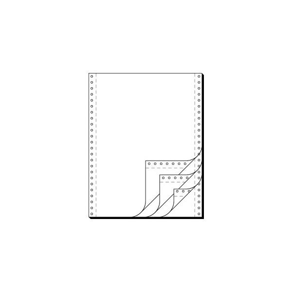 Sigel Endlospapier 32244, A4 hoch blanko, 4-fach, 12 Zoll x 240 mm, 500 Sätze