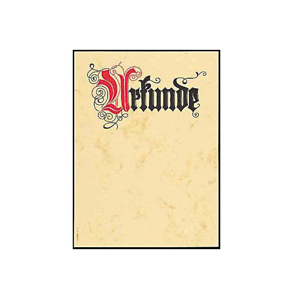 Sigel Motivpapier DP548 A4 185g Urkunde Calligraphie 12 Blatt