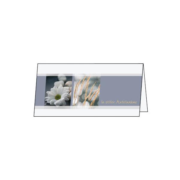 Sigel Trauerkarte m.Umschlag Blumen DL 220g 10/10 St
