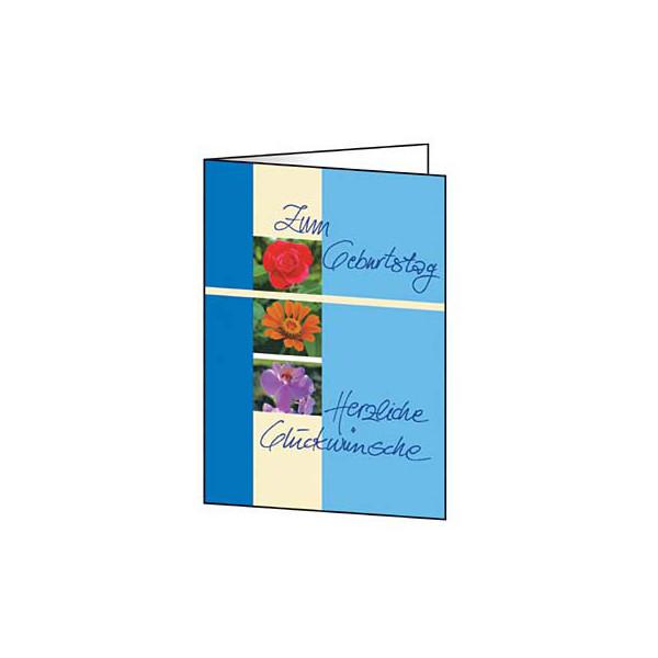 Sigel Geburtstagskarte Trio C6 mit Umschlag 10 Stück