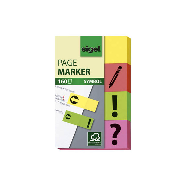 Sigel Index Haftstreifen Symbole 4x40Bl.
