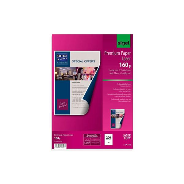 Sigel LP-324 Premium A4 160g Laserpapier superweiss 200 Blatt