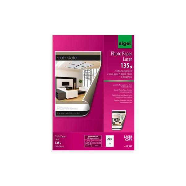 Sigel Laser-Fotopapier A4 LP-341 beidseitig glänzend 135g 200 Blatt