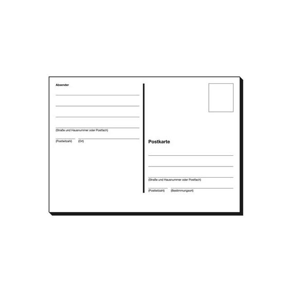 Sigel Postkartenheft A6 quer 10 Bl