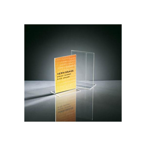 Sigel Tischaufsteller TA226 T-Form A6 glasklar für beidseitige Präsentation