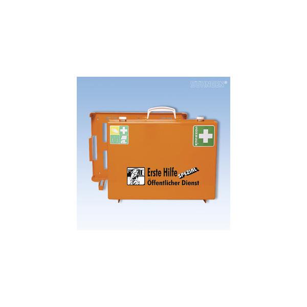 Söhngen Erste-Hilfe-Koffer Spezial MT-CD Öffentlicher Dienst orange gefüllt DIN 13157