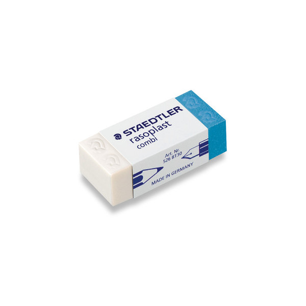 Staedtler Radiergummi rasoplast 42 x 18 x 12mm weiß/blau