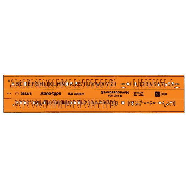 Standardgraph Schriftschablone 3098I/B 3,5mm gerade