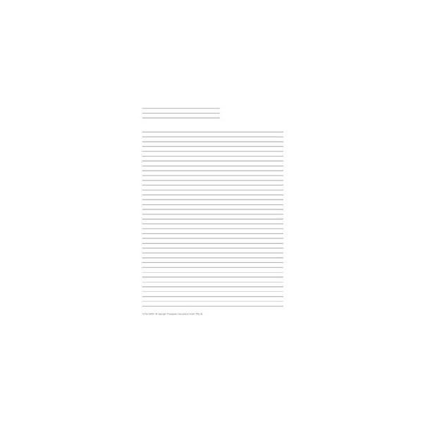 Time-System Liniertes Papier für A5 50 Blatt