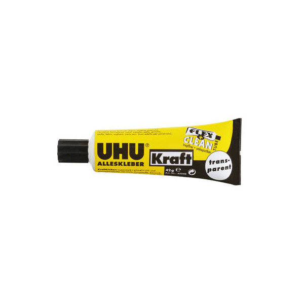 (6,76 EUR/100 g) Uhu Klebstoff 45040 Kraftkleber schwarz/gelb 42g