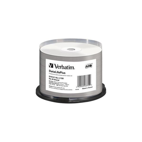 Verbatim DVD-R DataLifePlus 16x Spindel für Thermo 4,7GB 50 Stück