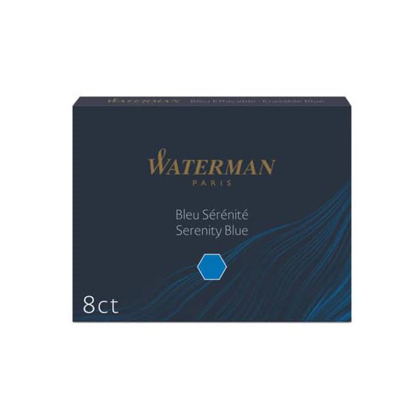 Waterman Füllerpatronen S0110860 floridablau 8 Stück Großraum