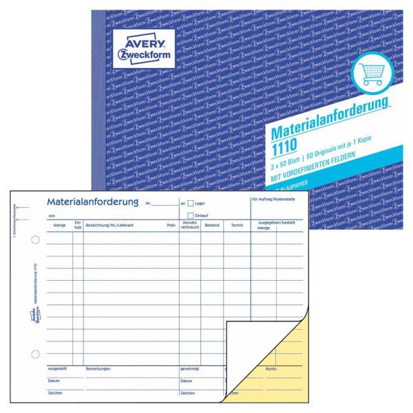 Zweckform Materialanforderung 1110 A5 2x50 Blatt