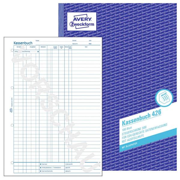Zweckform Kassenbuch 426 EDV A4 Laserdrucker 100 Blatt