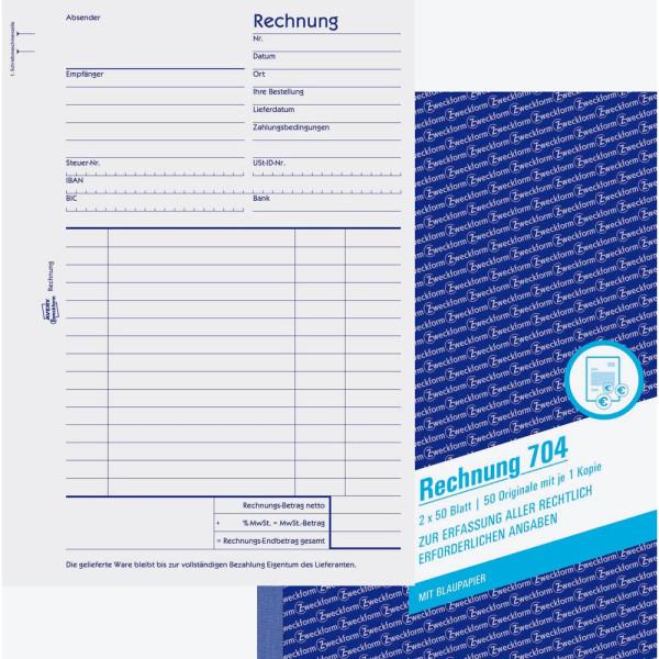 Zweckform Rechnung A5 2x50 Blatt