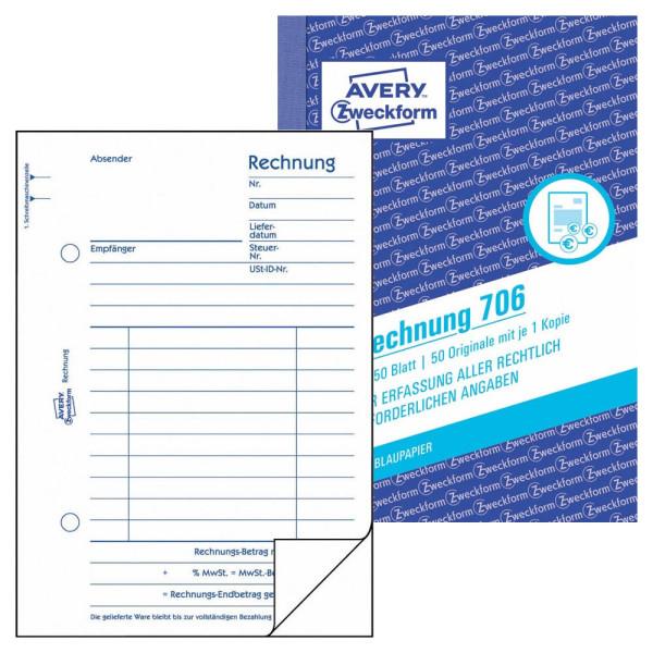 Zweckform Rechnung A6 2x50 Blatt