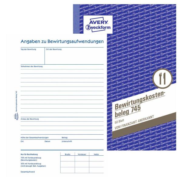 Zweckform Bewirtungskosten A5 50 Blatt