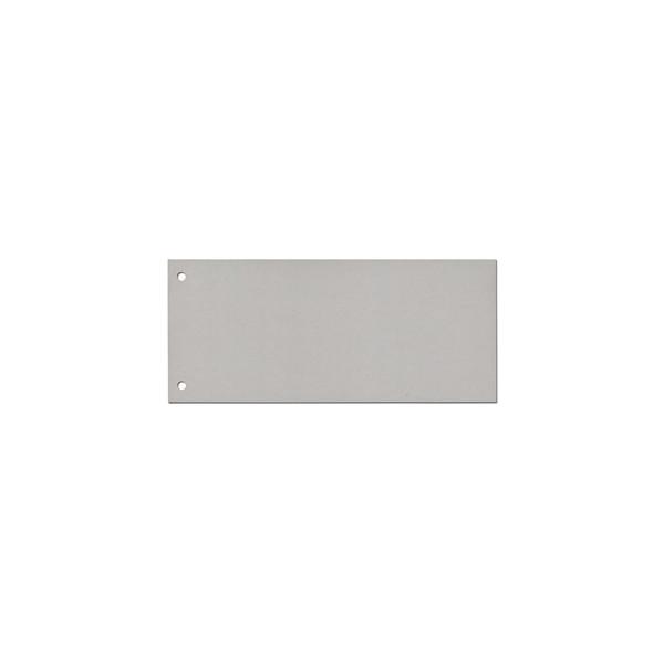 Trennstreifen grau reissfest PP gelocht 240x105mm 100 Blatt