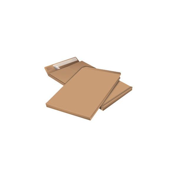Staples Faltentaschen B4 ohne Fenster 40mm Falte haftklebend 130g braun 100 Stück