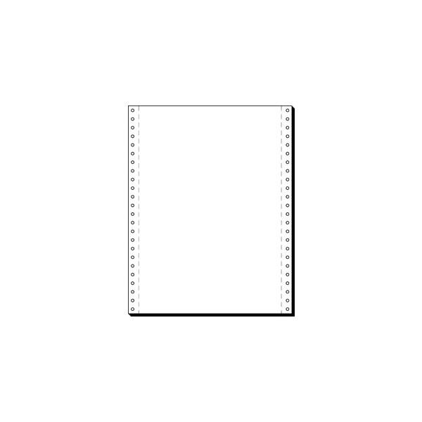 Staples Computerpapier 1-fach 375mm x 12 Zoll blanco weiß 60g 2000 Blatt