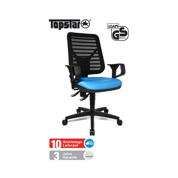 Topstar Bürodrehstuhl Artwork 10 PK mit Armlehnen blau