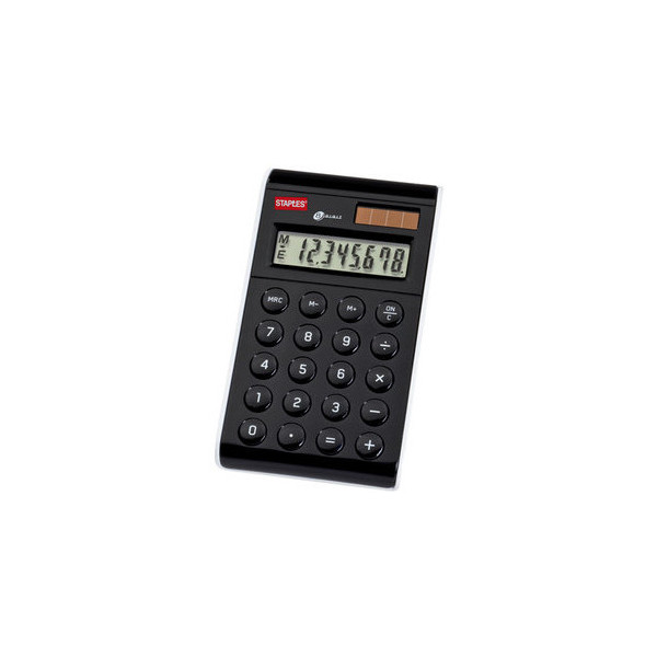 Staples Taschenrechner Design 8-stellig schwarz