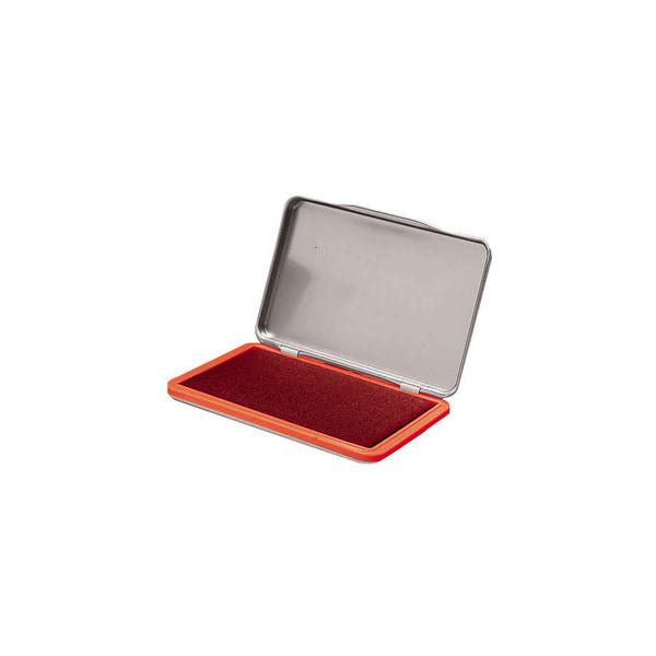 Staples Stempelkissen 7711401 Größe 2 rot getränkt 7x11cm im Metallgehäuse