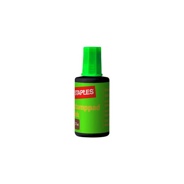 Staples Stempelfarbe 7760069 ohne Öl 27ml Flasche grün
