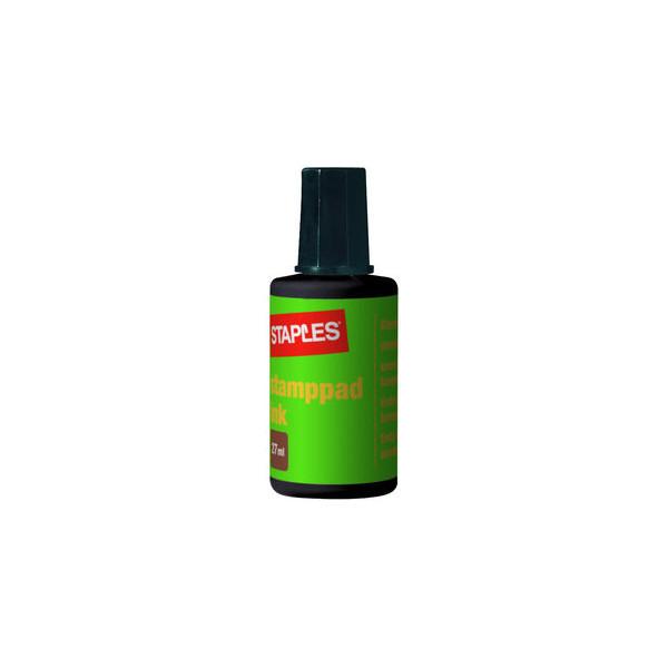 Staples Stempelfarbe 7760679 ohne Öl 27ml Flasche schwarz