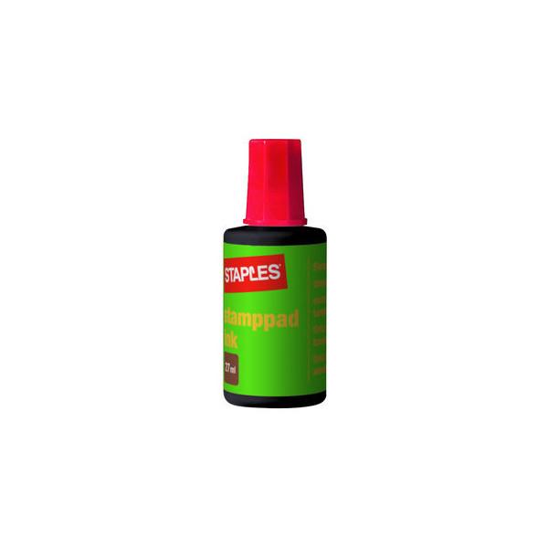 Staples Stempelfarbe 7760865 ohne Öl 27ml Flasche rot