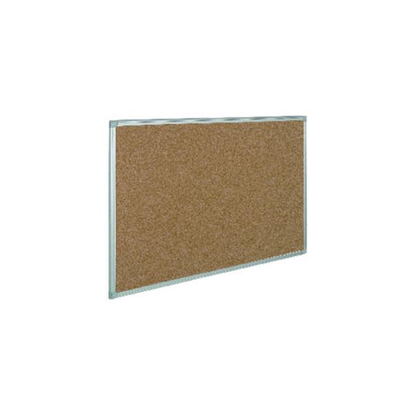 Staples Pinnwand, 120x90cm, Kork, Aluminiumrahmen, braun