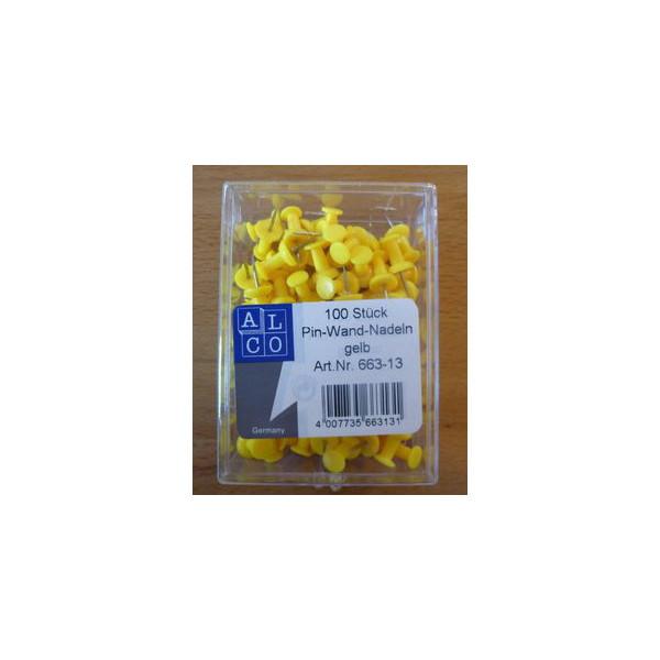 Alco Pinnadeln gelb 100 St