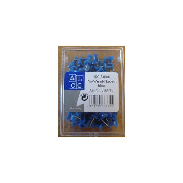 Alco Pinnadeln blau 100 Stück