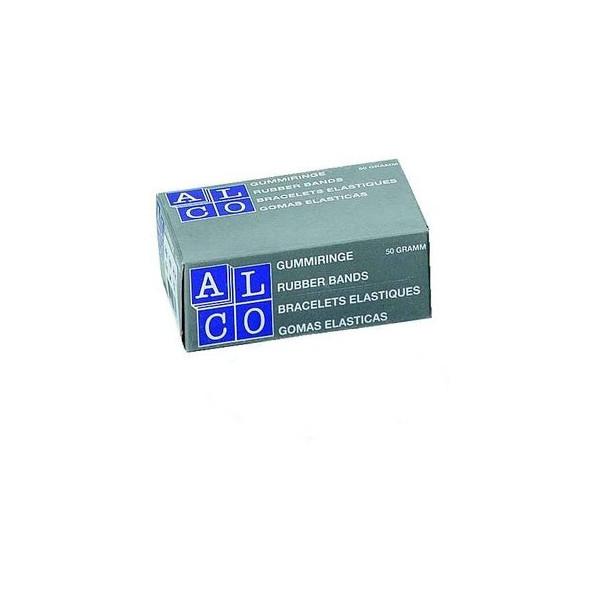 (1,12 EUR/100 g) Alco Gummiringe 732 Ř 50mm rot 50g