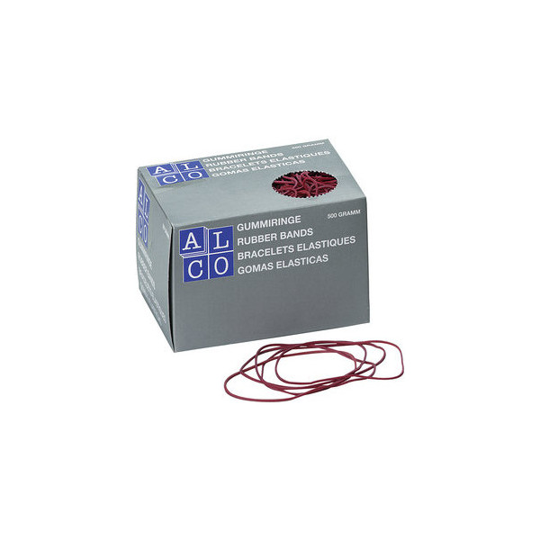 (11,10 EUR/1 kg) Alco Gummiringe 740 Ř 65mm rot 500g