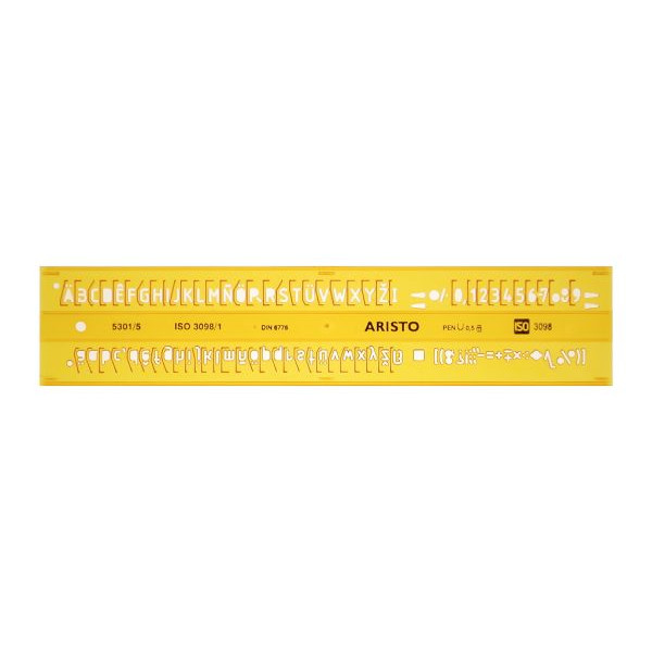 Aristo Schriftschablone ISO 3098-1 gerade 0,5mm