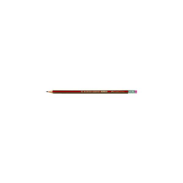 Faber-Castell Bleistifte Dessin 2001 HB mit Radierer
