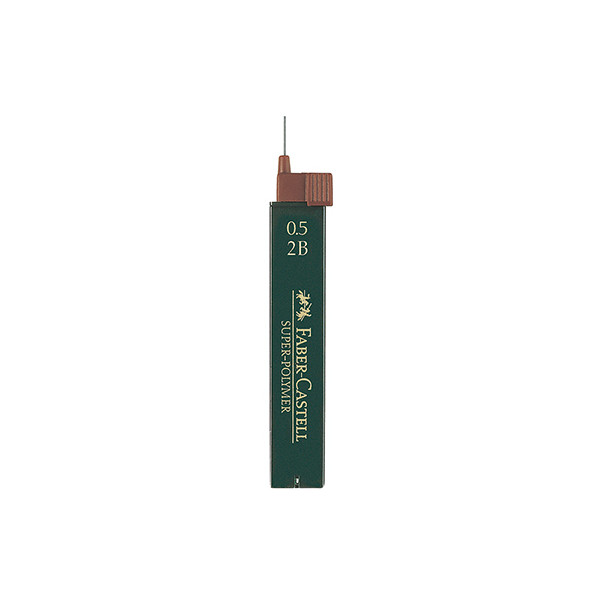 Faber-Castell Druckbleistiftminen 0,5mm 2B Polymer 12 St