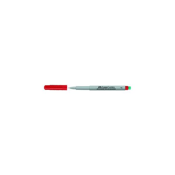 Faber-Castell Folienstift Multimark 1514 F rot 0,6 mm non-permanent