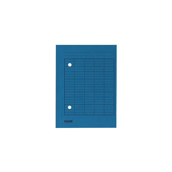 Falken Umlaufmappe 8000 A4 250g blau mit 2 Sichtlöchern
