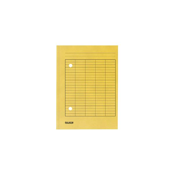 Falken Umlaufmappe 8000 A4 250g gelb mit 2 Sichtlöchern